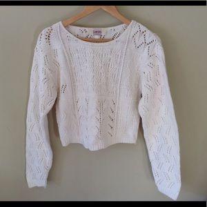 Campana Classics Crochet Crop Boho Sweater